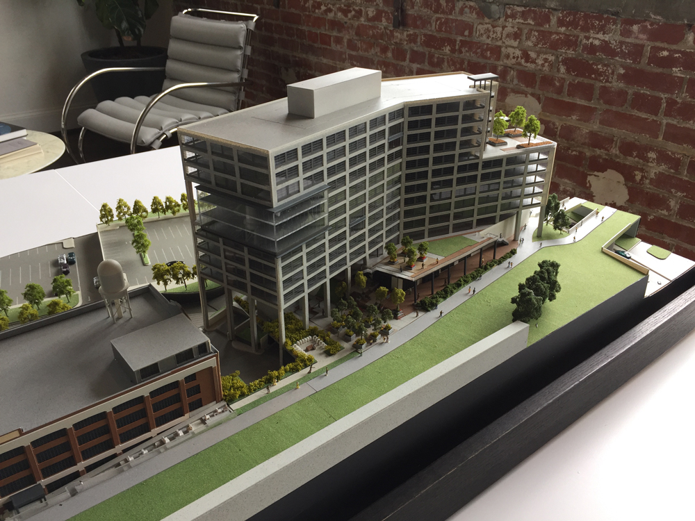 A scaled model of 725 Ponce in New City's office.