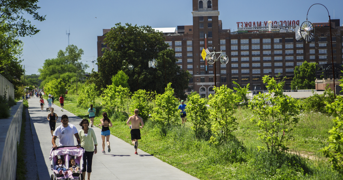Eastside Trail near Ponce City Market, connecting you to Inman Park, Piedmont Park, the Carter Center and more. (Photo: Christopher T. Martin)